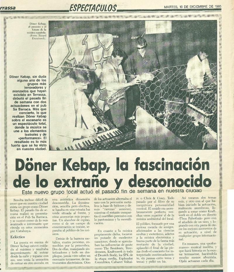 Diari 10 desembre 1985